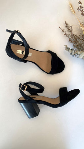 Carlina Heel - Black Suede