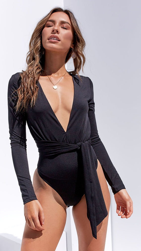 Love Lies Bodysuit - Black