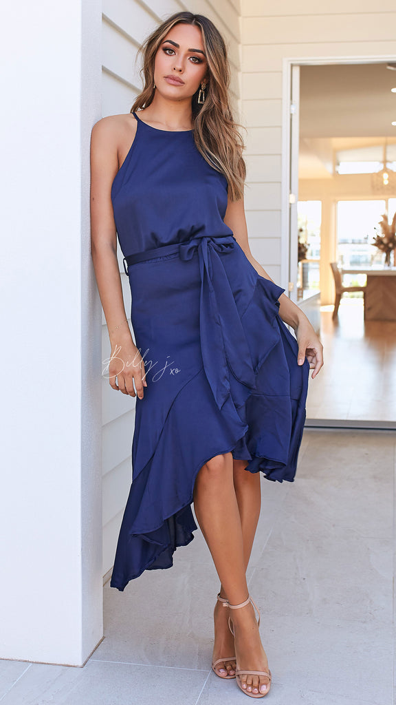 Loretta Dress - Navy