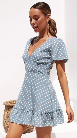 Valley Tales Dress - Blue