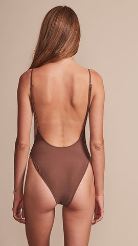 Bo Derek One Piece - Brown