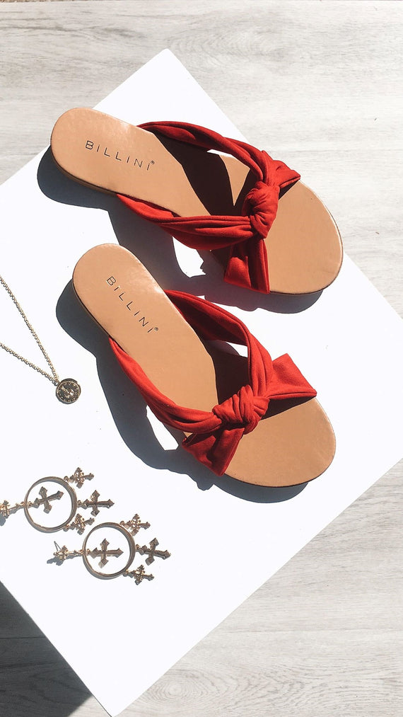 Comino Flats - Red Suede