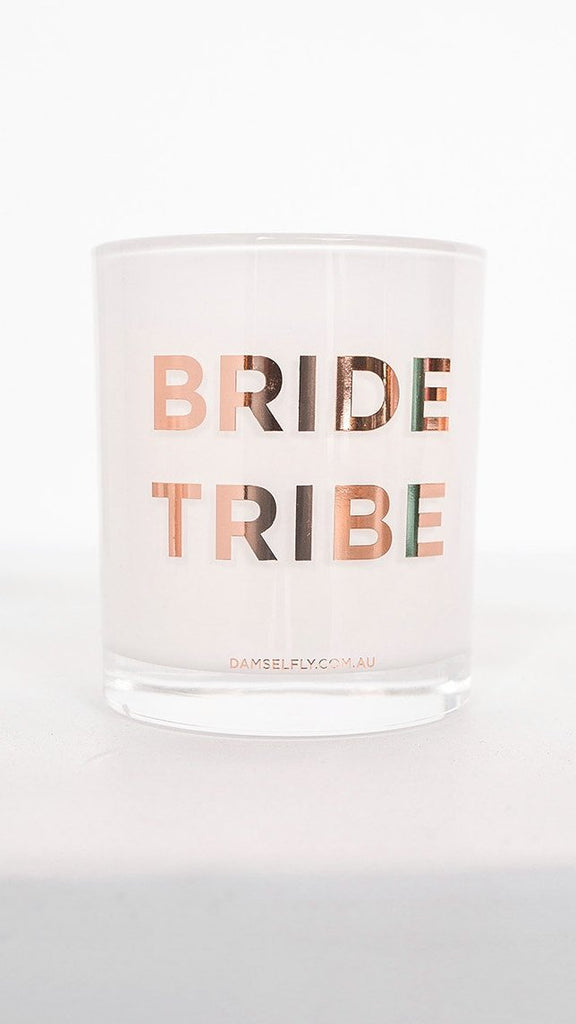 Bride Tribe Candle - White & Rose Gold