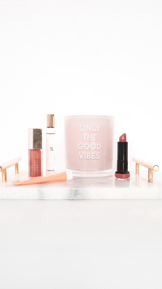 Only The Good Vibes Candle - Blush