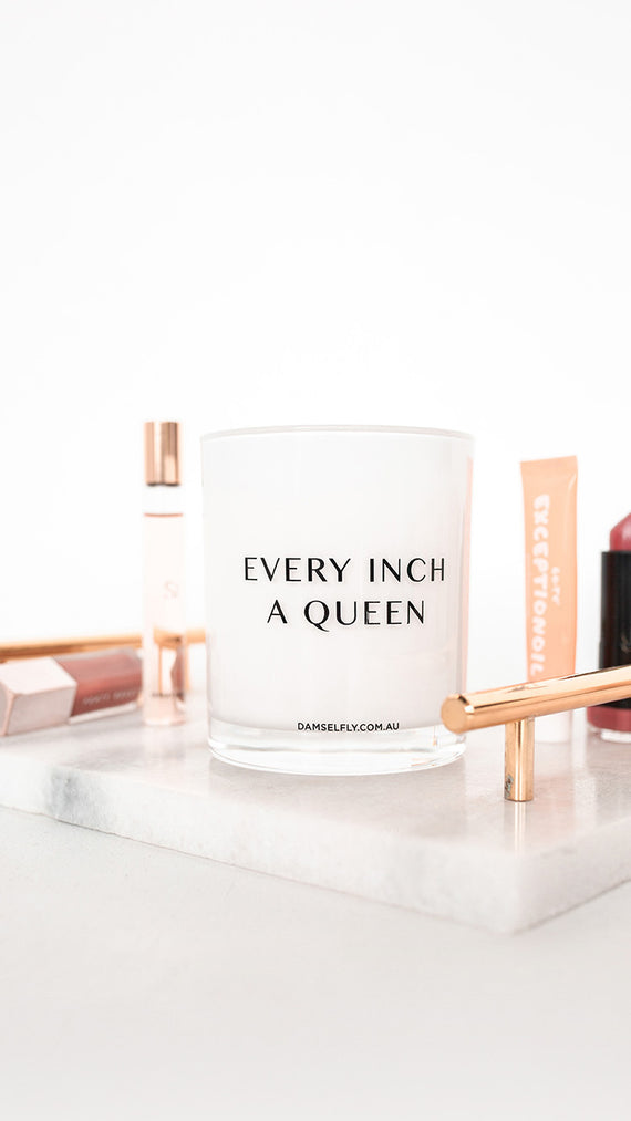Every Inch A Queen Candle - White