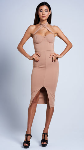 Dani Dress - Camel - IVORY AND CHAIN