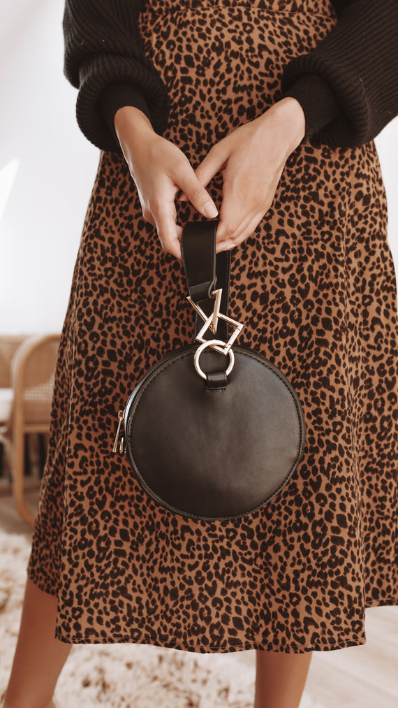 Tribeca Metal Shape Bag - Black