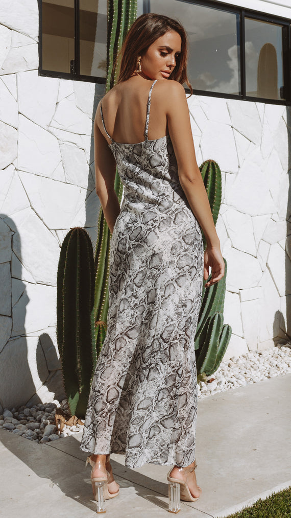 Trinidad Dress - Grey Snake