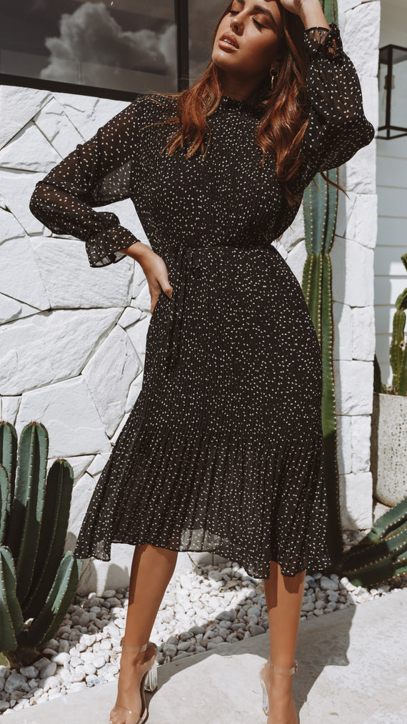 Sienna Dress - Black/Beige