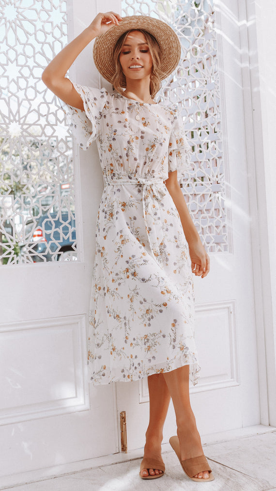 One Honey Dress - White Floral