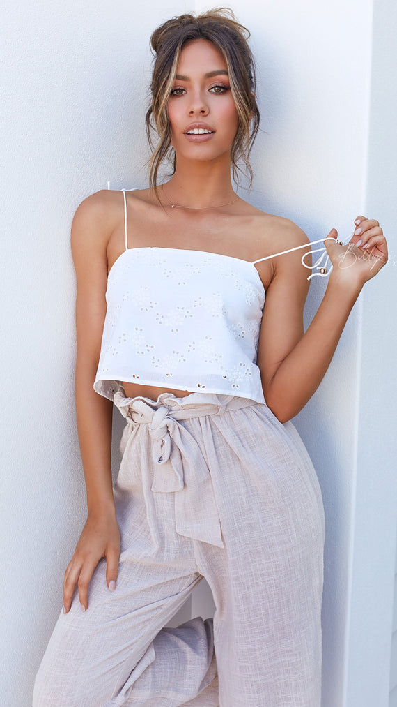 Hibiscus Top - White