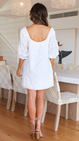Lagoon Mini Dress - White
