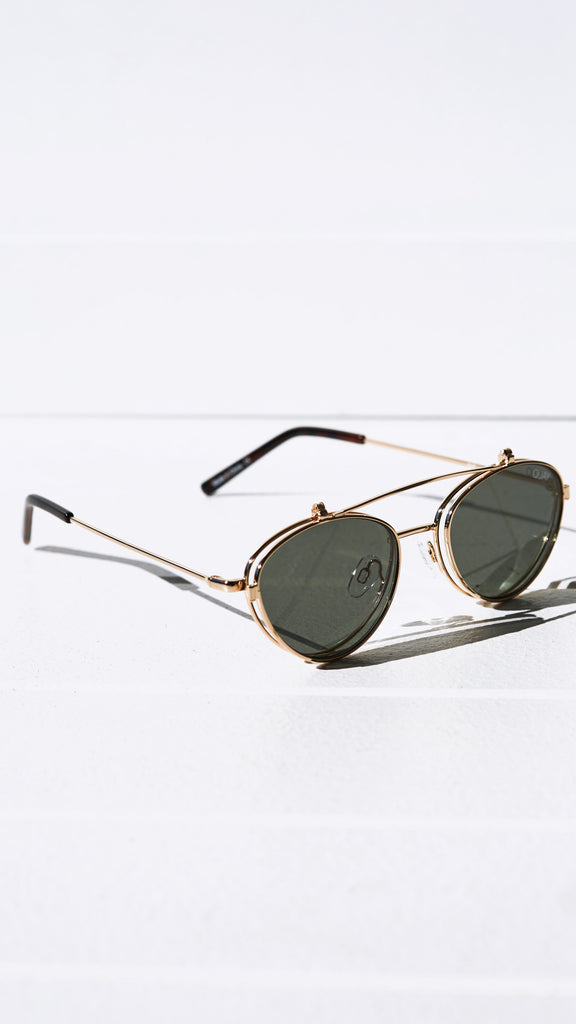 Elle Sunglasses - Gold and Green