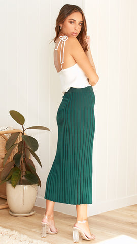 Oskar Midi Skirt - Emerald
