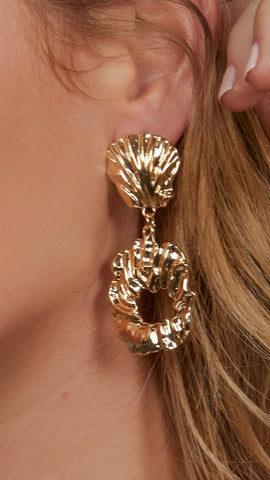 Farrow Drop Earrings - Gold