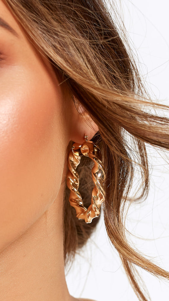 Fairweather Twisted Hoops