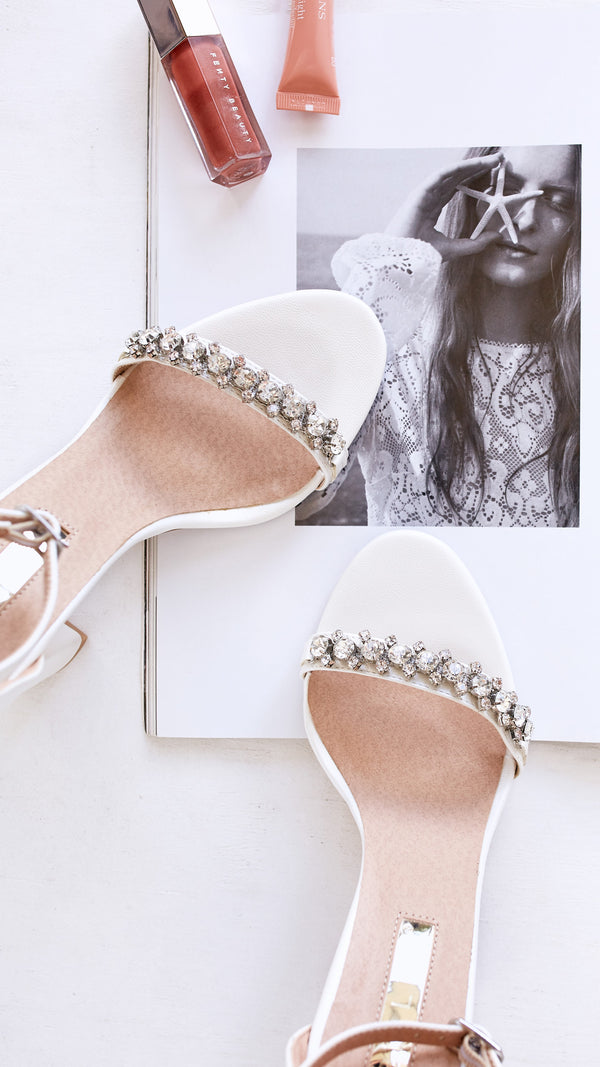 Laine Heels - White Pearl