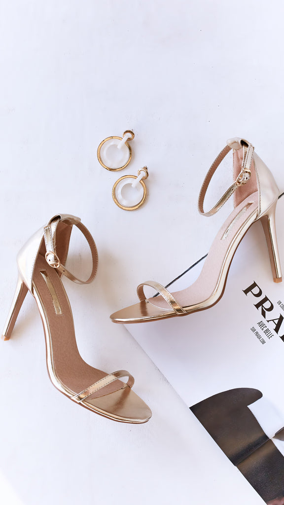 Timeless Heel - Light Gold Metallic