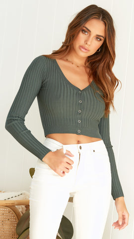 Celestia Top - Forest Green