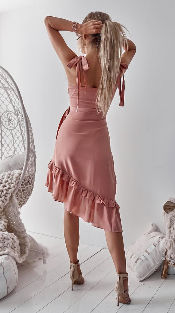 Tuscany Dress - Peach