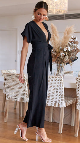 Leona Jumpsuit - Black
