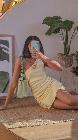 Tamika Dress - Lemon
