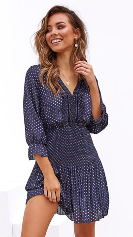 Reach for the Stars Dress - Navy