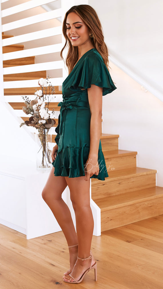 Arlington Dress  - Emerald