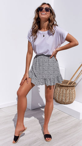 Nixon Skirt - White Pebble