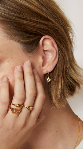 Pia Earrings - Gold