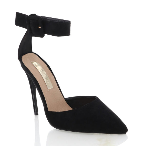 Riley Heel - Black Suede