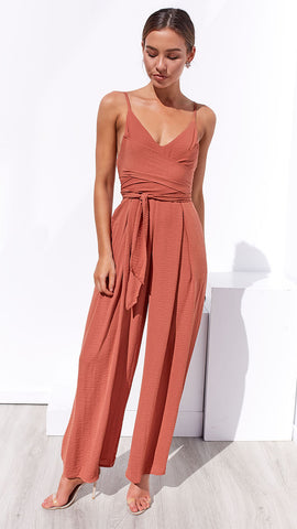 All Night Long Jumpsuit - Sienna