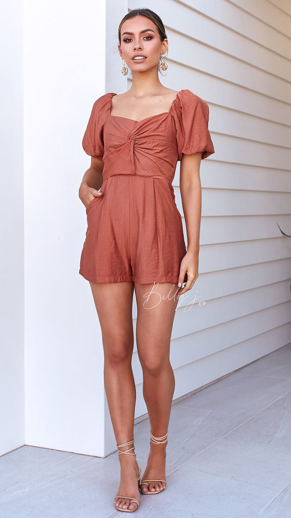 Marcie Playsuit - Rust