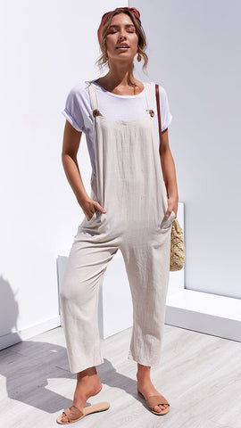 Follow the Sun Jumpsuit - Natural