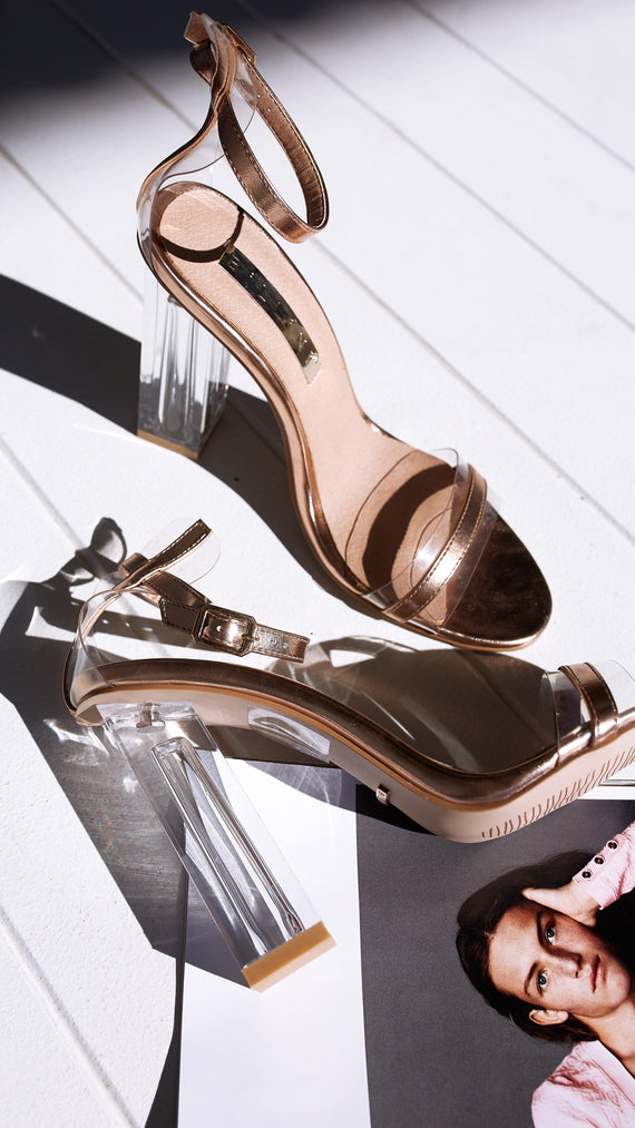 Izaro Heel - Rose Gold Metallic