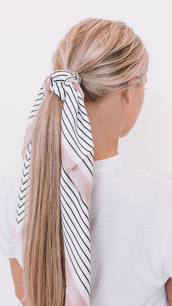 Kee Head Scarf - Stripe/Cream