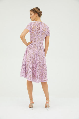 Snapdragon Fit & Flare Lace Dress - Floss