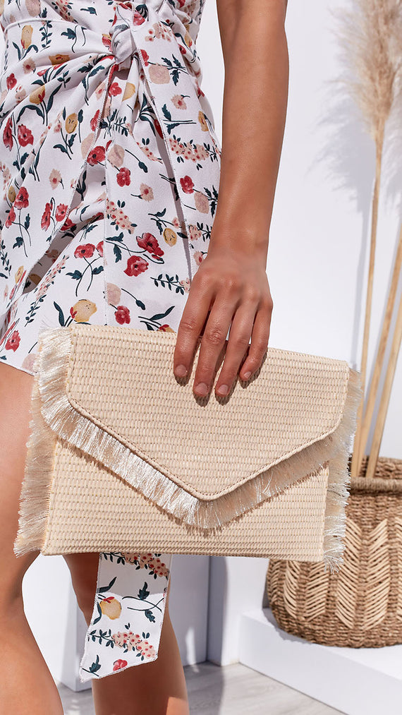 Island Getaway Clutch - Natural