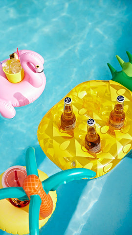 INFLATABLE DRINK HOLDER PINEAPPLE