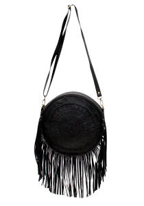 TARNIA ROUND TASSEL BAG / BACKPACK - Black