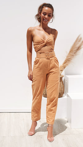 Sunset Glow Pant & Top Set - Caramel