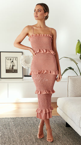 Veronica Dress - Dusty Rose