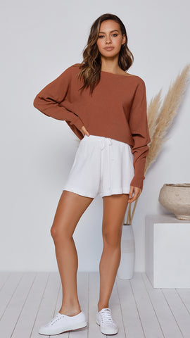 Tulah Knit Top - Rust
