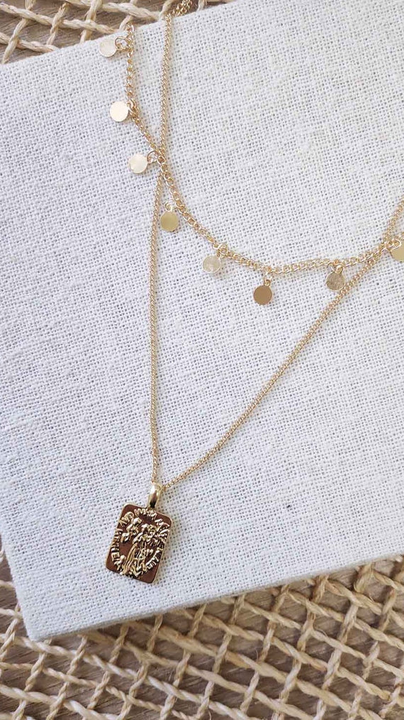 Alice Pendant Necklace - Gold
