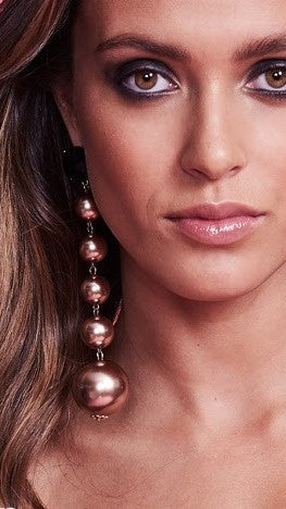 Ball Drop Earrings - Bronze