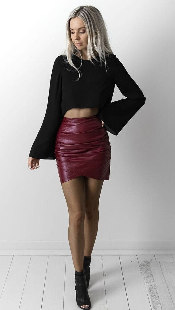 Dusty Road Skirt - Wine