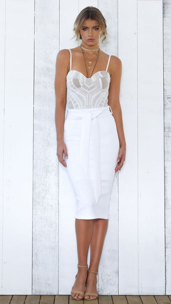 Pia Skirt - White