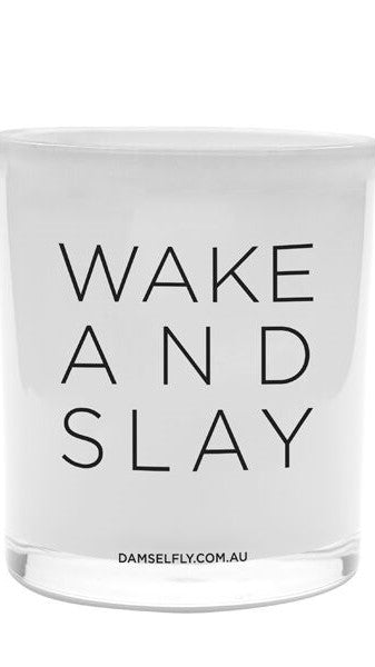Wake And Slay - Large Candle