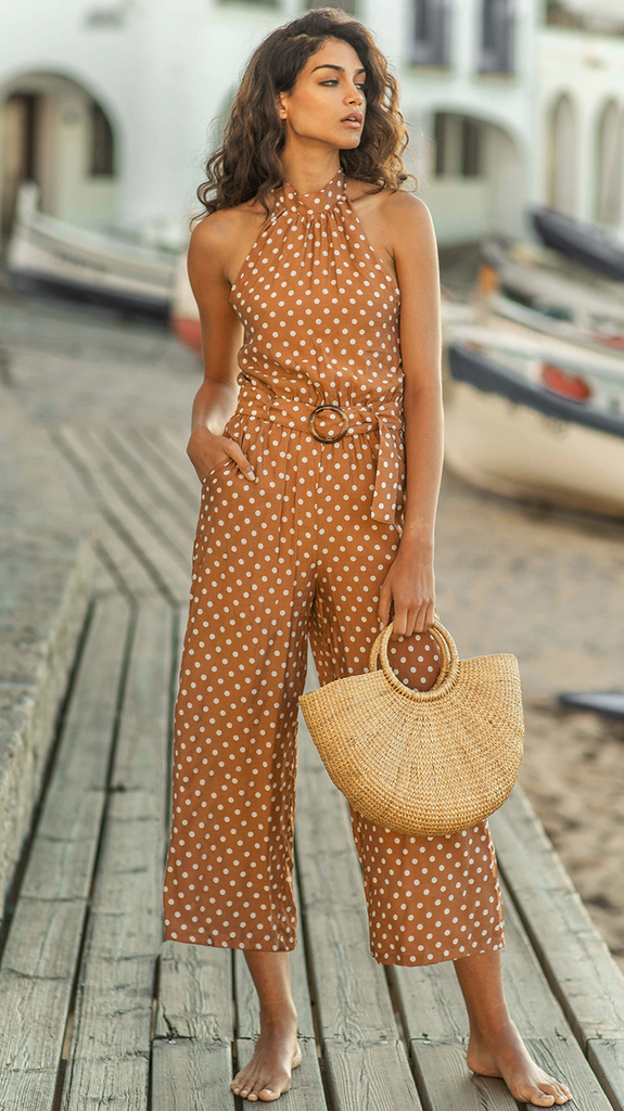 All About Me Jumpsuit - Rust