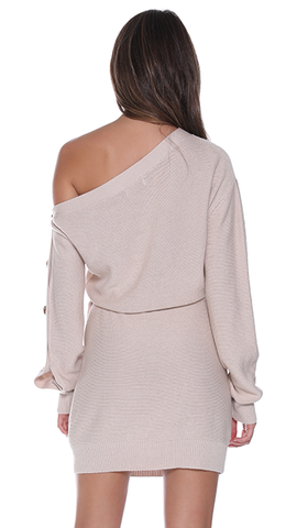 Bell Knit Dress - Natural
